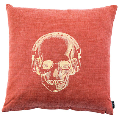 Skull & Headphones Scatter Cushion