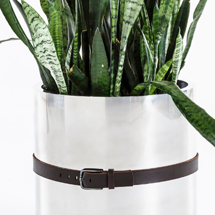 Stainless Steel Belted Planter