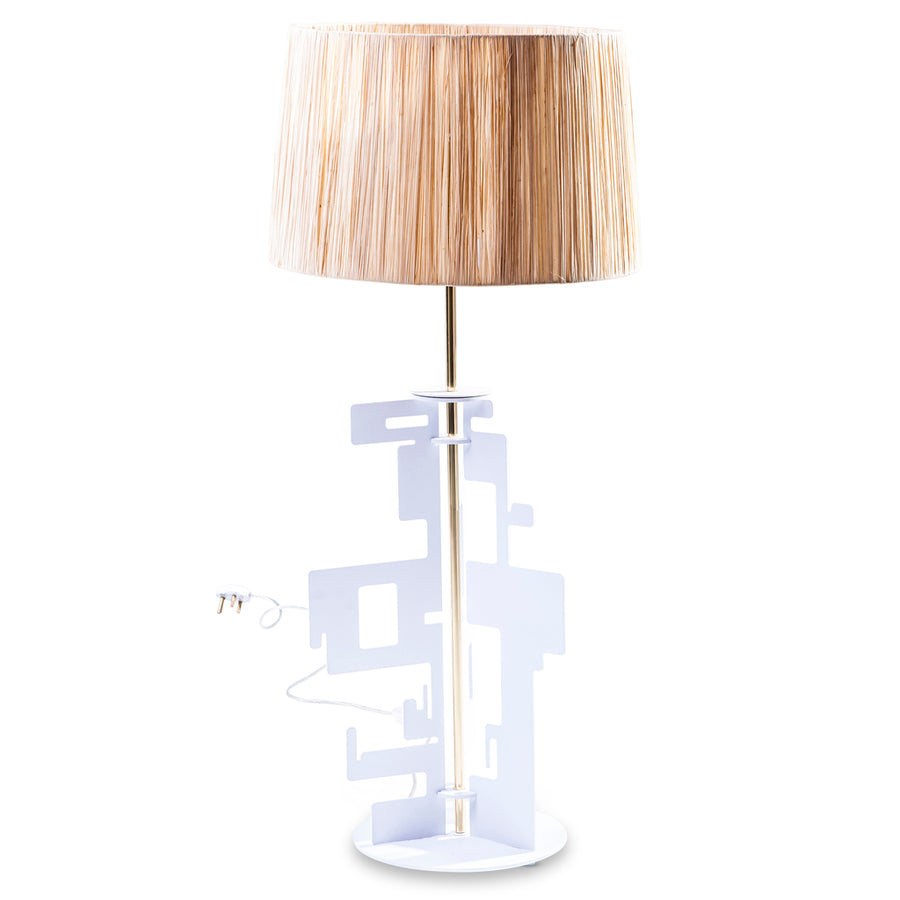 Puzzle Table Lamp Powder Coated