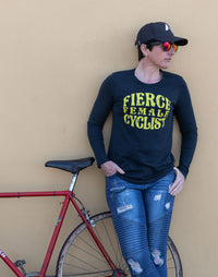 Fierce Female Cyclist Long SLV T-Shirt