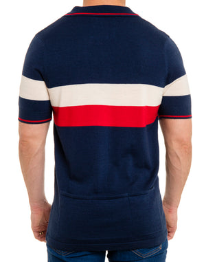 Sporty Retro Wool Knit Polo