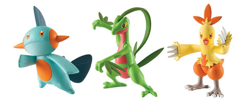 Pokemon Grovyle Combusken Marshtomp Figures