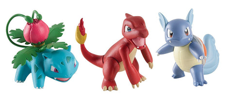 Pokemon Ivysaur Charmeleon Wartortle Battle Play Figures