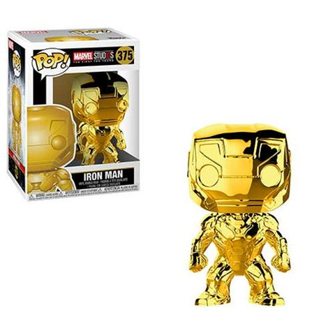 Marvel Studio's 10th Anniversary Chrome Iron Man Pop! Vinyl Figure #375