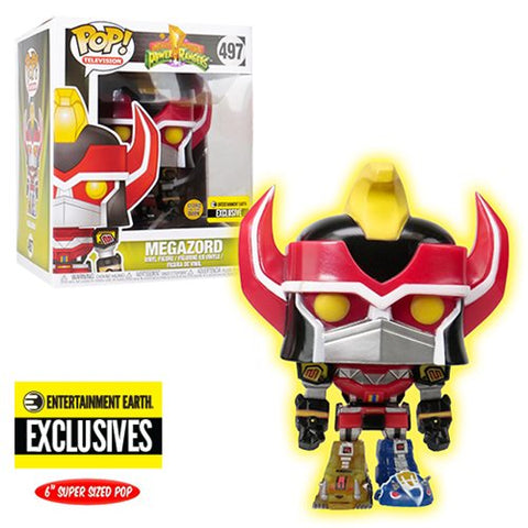 Power Rangers Megazord Glow-in-the-Dark 6-Inch Pop! Vinyl Figure #497