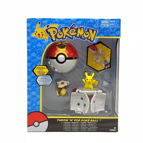 Pokemon Pikachu + Poke Ball & Cubone + Repeat Ball