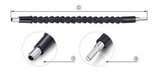 Flexible Drill Bit Extension with Screw Drill Bit Holder