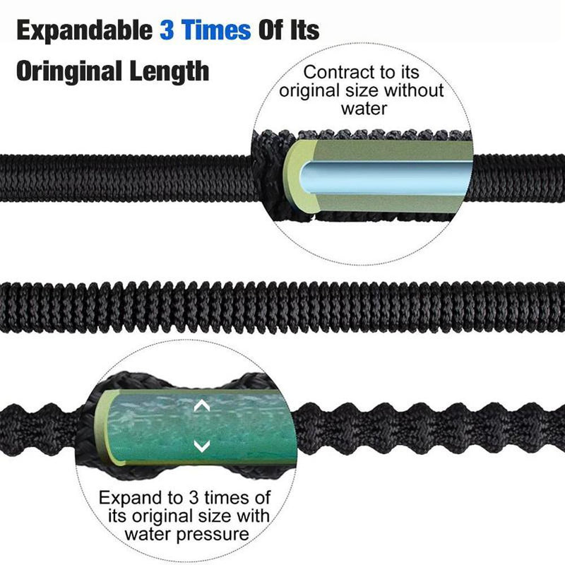 Telescopic Water Hose with Double Latex Core