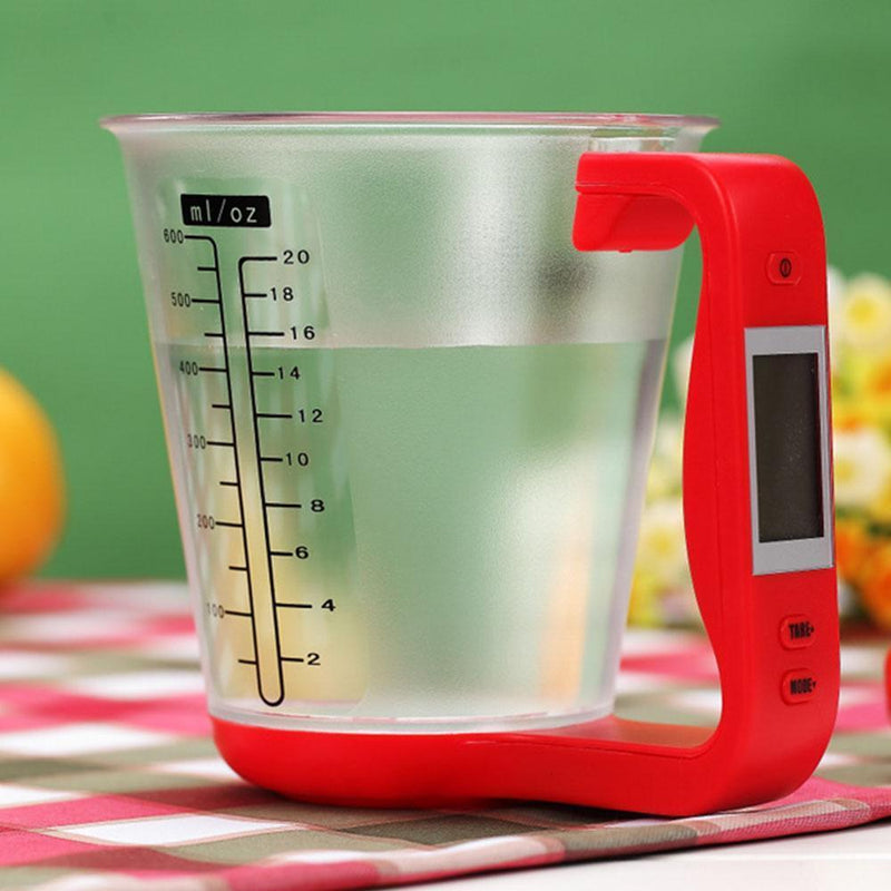 Hirundo Digital Measuring Cup and Scale, Red - PAPA BEAR HOME