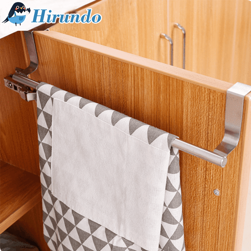 Hirundo Multifunctional Stainless Steel Door Back Towel Rack - PAPA BEAR HOME