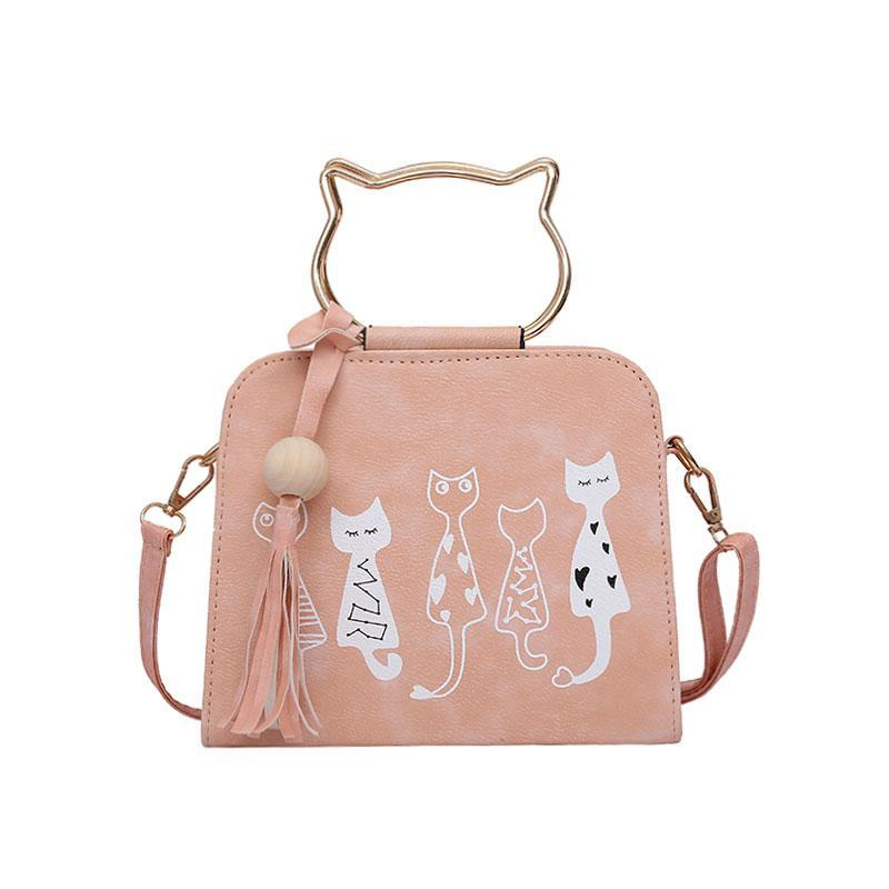 Printed kitten handbag