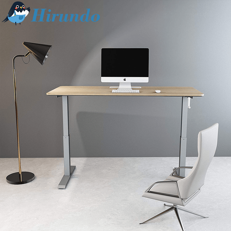 Hirundo Sliver Manual Height Adjustable Stand Up Desk - PAPA BEAR HOME
