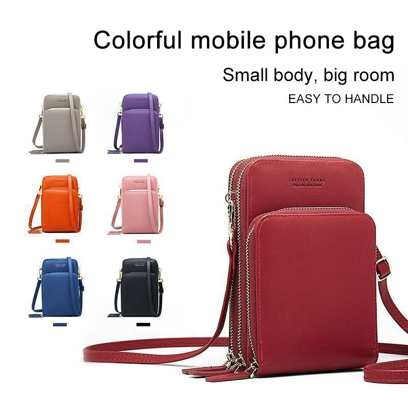Colorful shoulder bag cell phone pocket - PAPA BEAR HOME