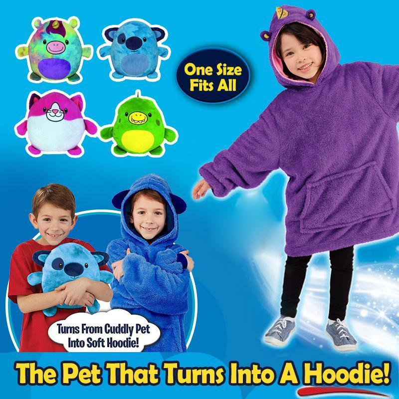 Cute Warm Comfy Oversized Pet Hoodie For Kids - PAPA BEAR HOME