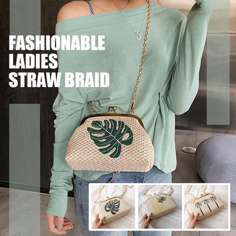 Fashionable ladies straw braid - PAPA BEAR HOME
