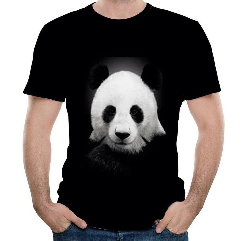 3D Panda-Printed Short Sleeve T-Shirt - PAPA BEAR HOME