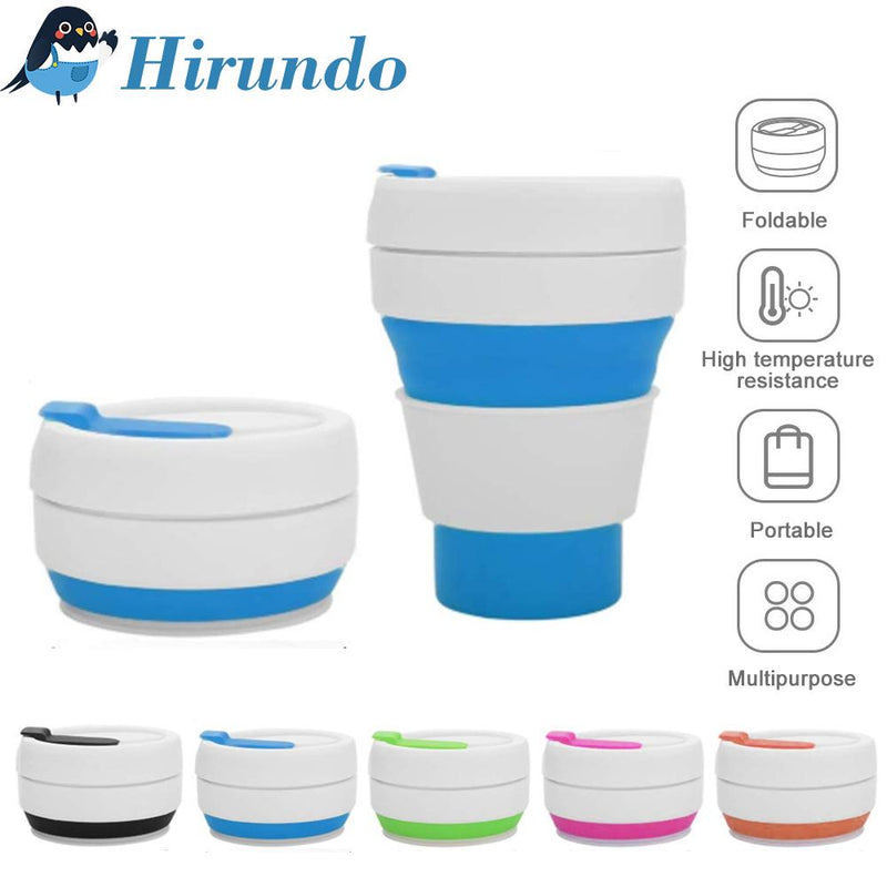 Hirundo Collapsible Silicone Portable Travel Coffee Cup - PAPA BEAR HOME