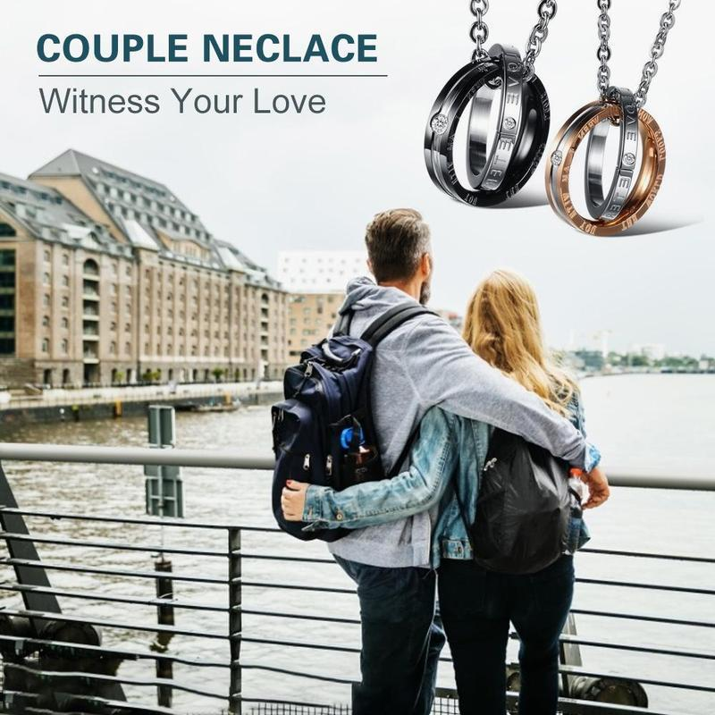 Eternal Love Titanium Steel Couple Necklace - PAPA BEAR HOME