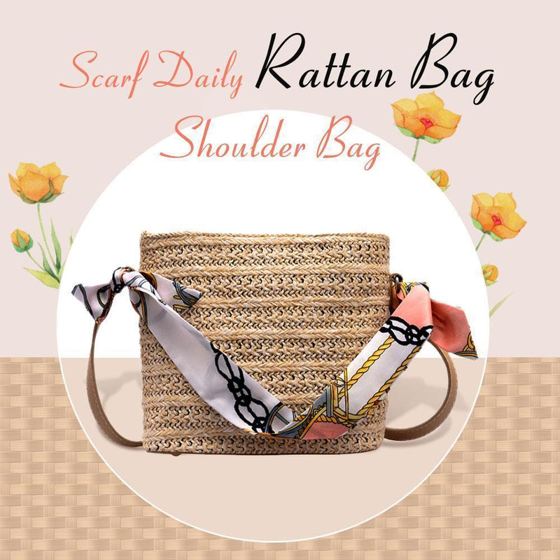 Scarf Daily Rattan Bag Shoulder Bag