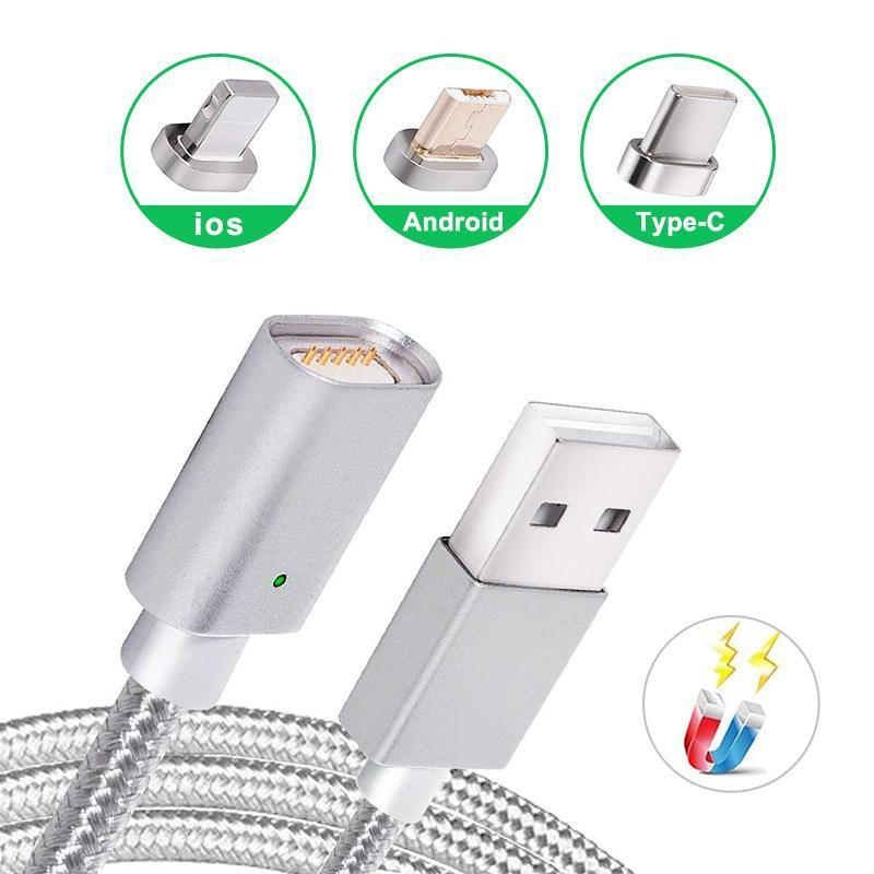 3-in-1 Magnetic Cable For Micro USB&Type-C&iPhone - PAPA BEAR HOME