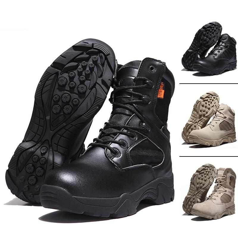Army Male Desert Outdoor Hiking Boots Landing Tactical Military Shoes - PAPA BEAR HOME