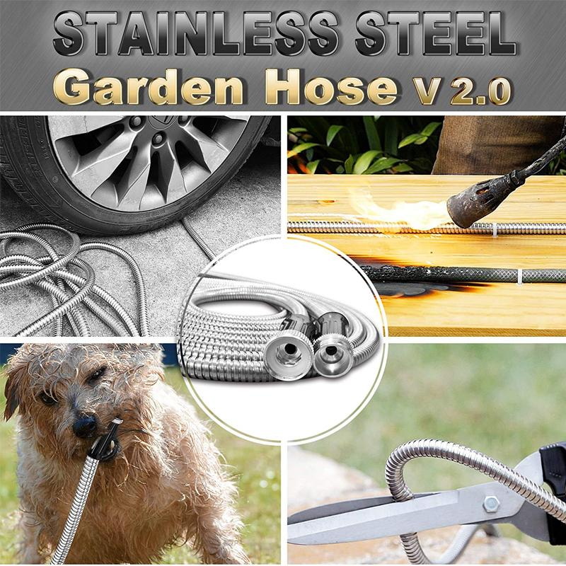 Bionic Steel 304 Stainless Steel Metal Garden Hose - PAPA BEAR HOME