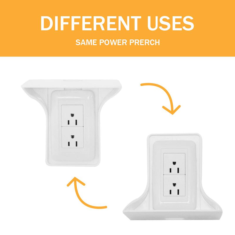 Hirundo Wall Outlet Shelf Power Perch ( 2PCS ) - PAPA BEAR HOME