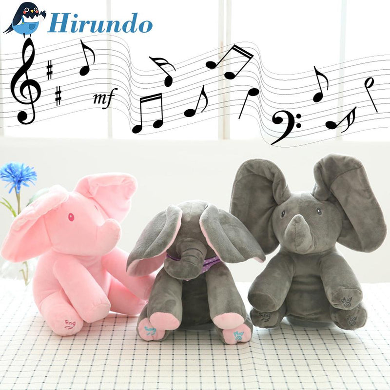 Hirundo Music Plush Elephant, Hide-and-seek game Electric Toy - PAPA BEAR HOME