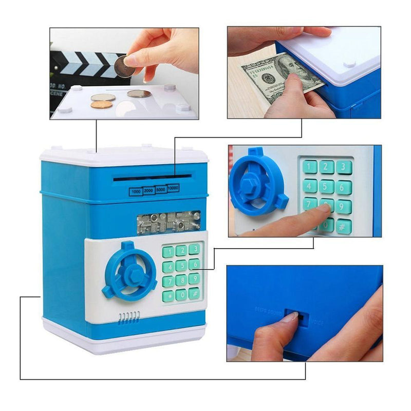 Mini Piggy Bank for Cash & Coins Savings