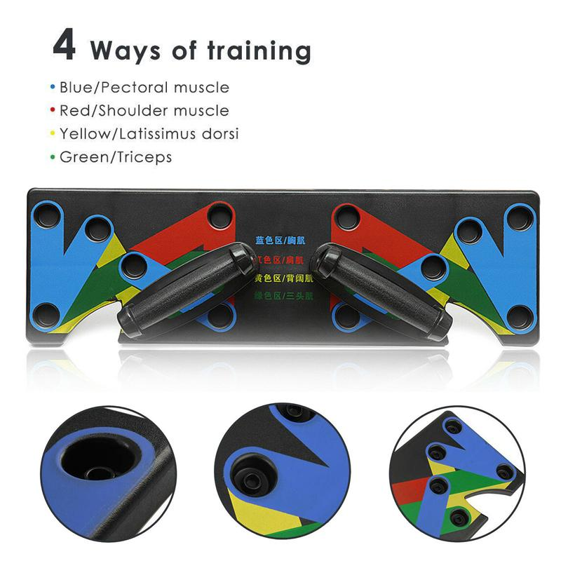 Hirundo Push Up Rack Board System Fitness Workout Train Gym Exercise Stands - PAPA BEAR HOME