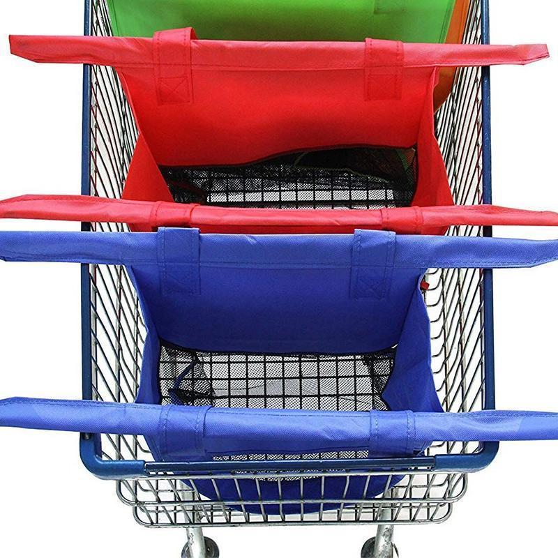 4 in 1 reusable shopping cart bags - PAPA BEAR HOME