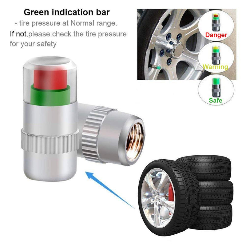 DOMOM Tire Pressure Indicator Valve Stem Caps - PAPA BEAR HOME