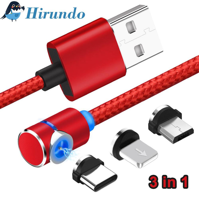 Hirundo 3 IN 1 MAGNETIC CHARGING CABLE FOR LIGHTNING, MICRO AND TYPE C, 2M - PAPA BEAR HOME