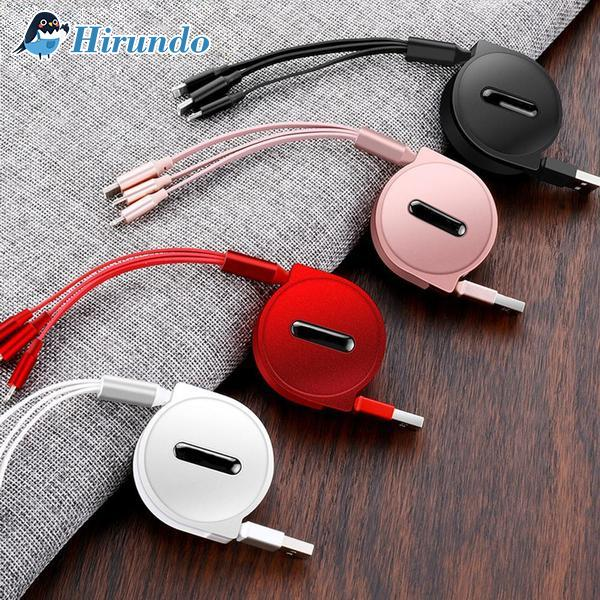 Hirundo 3-in-1 Retractable Charging Cable - PAPA BEAR HOME