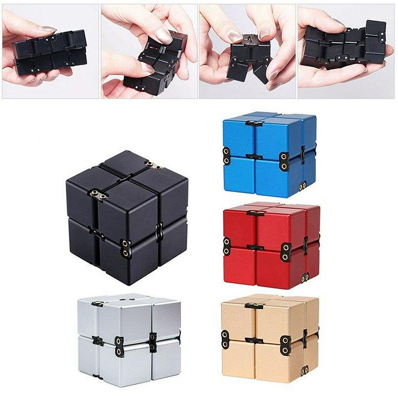 Hirundo Infinity Cube Magic Cube Mini Fidget Toy Finger Anxiety Stress Relief Toys - PAPA BEAR HOME