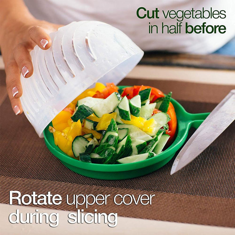 Hirundo Upgraded Salad Cutter Bowl, Green - PAPA BEAR HOME