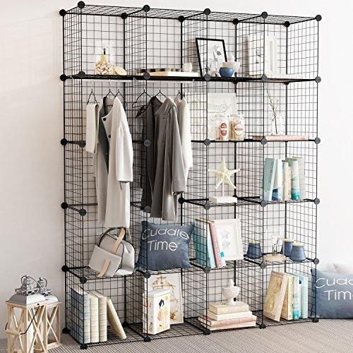 DIY Metal Grid Closet, Bookcase, Cabinet - PAPA BEAR HOME