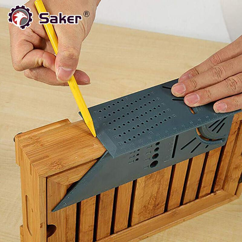 Saker® New 3D 90 Degree Square Carpenter's Rule