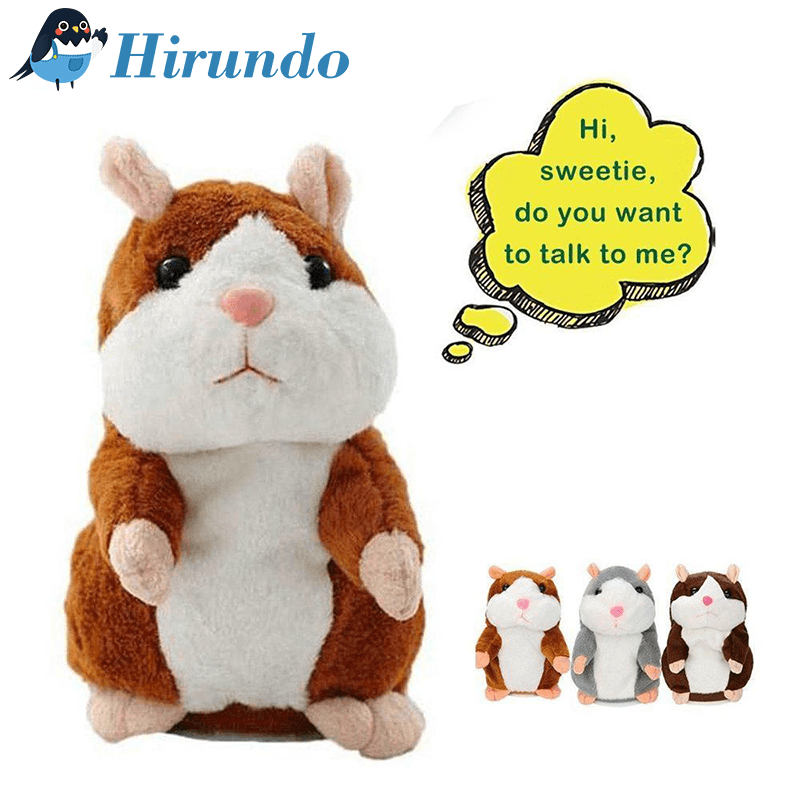 Hirundo Cute Repeating Talking Hamster Plush Toy - PAPA BEAR HOME