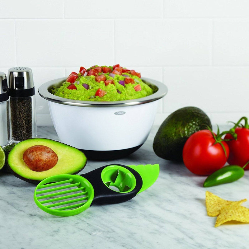 Hirundo 3-in-1 Avocado Slicer, Green - PAPA BEAR HOME