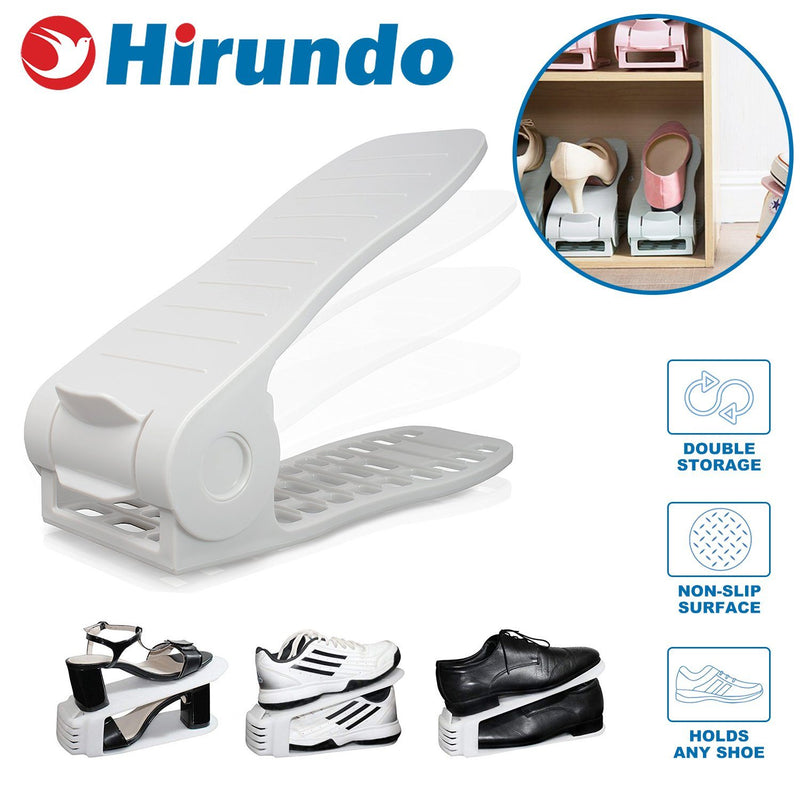 Hirundo Adjustable Shoe Rack Space Saver - PAPA BEAR HOME