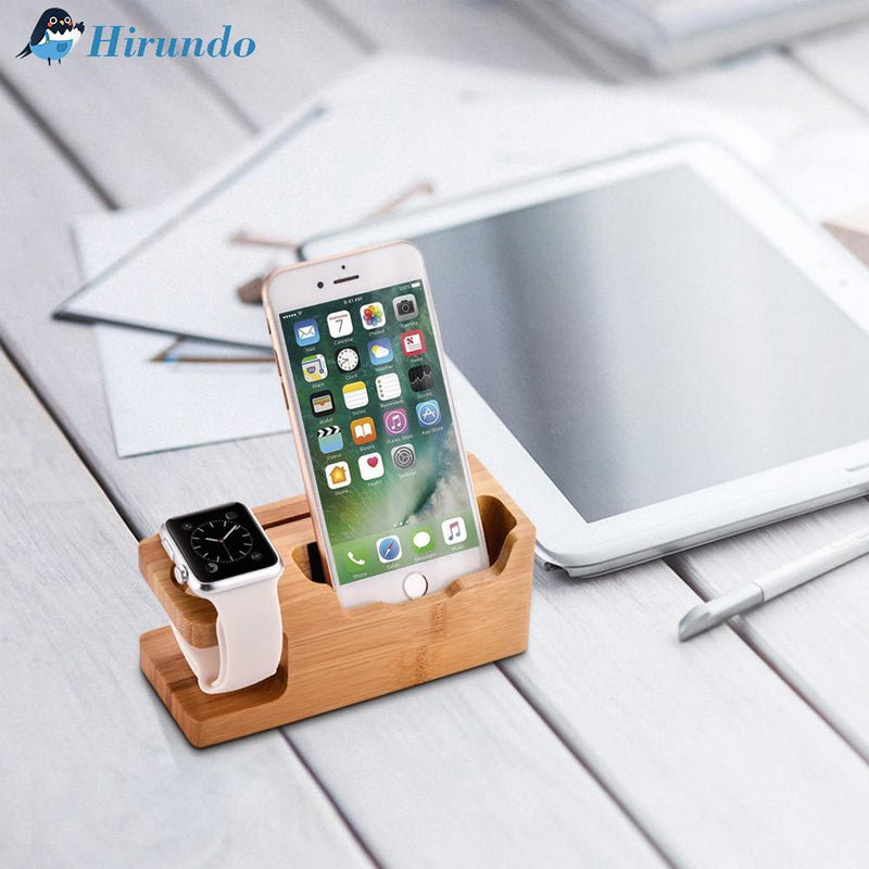 Hirundo 3-Port USB Charger Wood Charging Station - PAPA BEAR HOME
