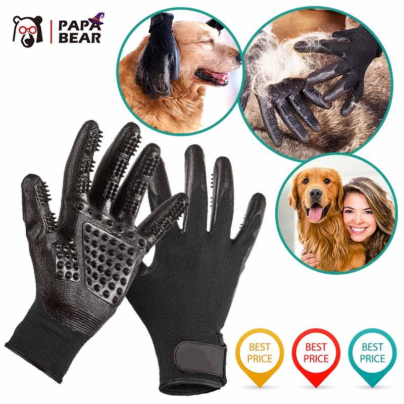 Papabear Pet Grooming Gloves For Cats, Dogs & Horses ( 1 pair ) - PAPA BEAR HOME