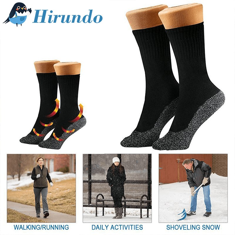 Hirundo 35˚ Below Ultimate Comfort Socks (3 pairs in Black) - PAPA BEAR HOME