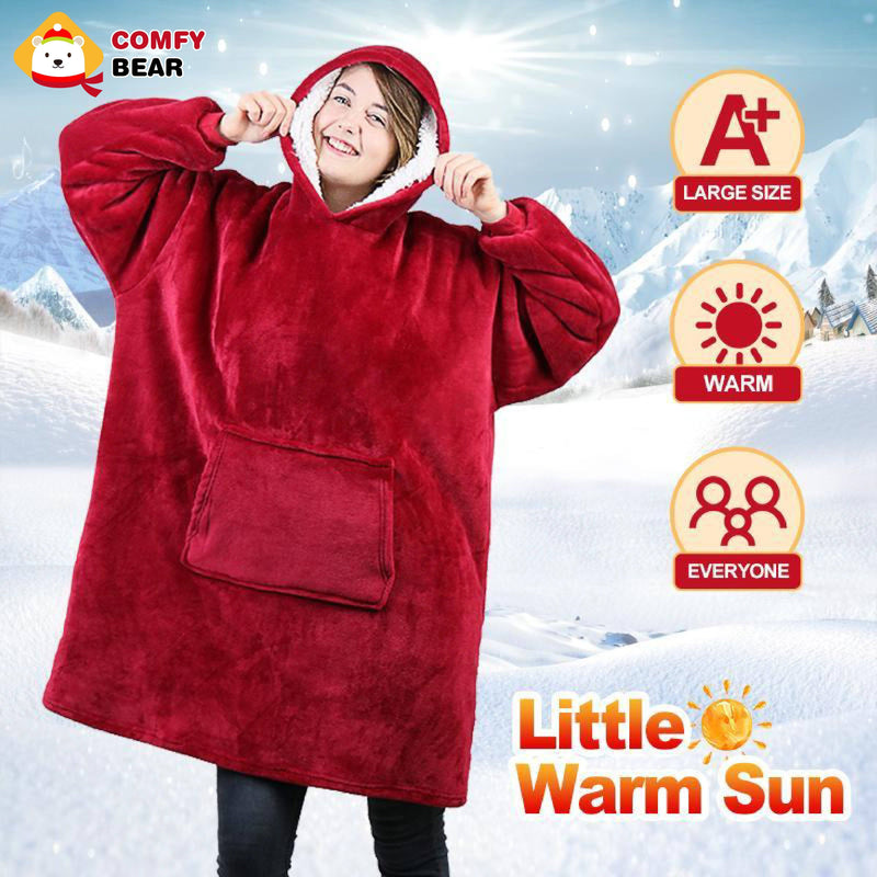 Comfybear® Blanket Sweatshirt For Adults & Children - PAPA BEAR HOME