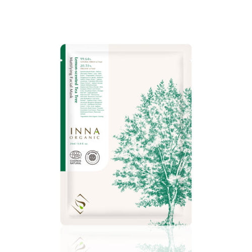 Lemon-Scented Tea Tree Mattifying Facial Mask - Inna Organic