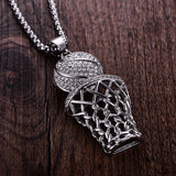 Gold/Silver Basketball Necklace