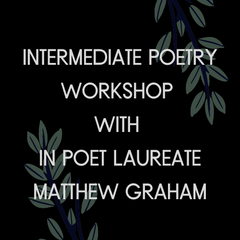 Intermediate Poetry Workshop with Matthew Graham
