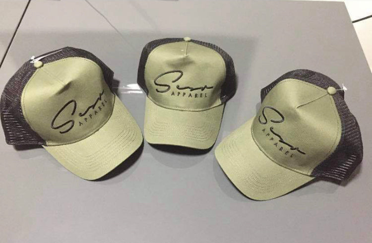 Signature Khaki and Black Trucker