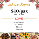 Buffet Catering $40/pax (min 25 pax) (LOVE)
